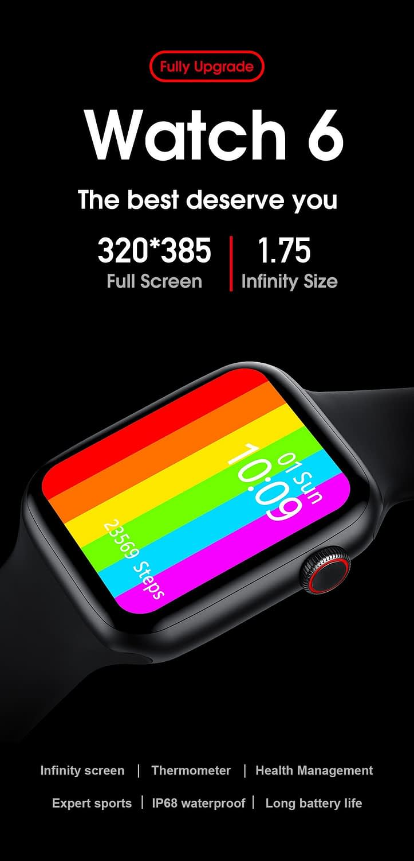W26 Smart Watch - Watch 6 - Full Screen Infinity Retina Display 5