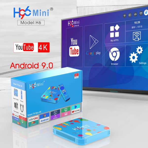 H96 Mini Android 9.0 Smart TV BOX 4GB RAM 32GB ROM 6K 1