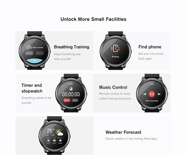 Haylou Solar LS05 Smartwatch: 30 Days Battery Life IP68 Waterproof - Global Version 2