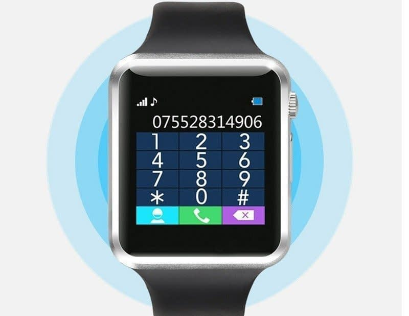W08 Smart Watch With GSM Slot, TF Card, Bluetooth For Android & iPhone 8