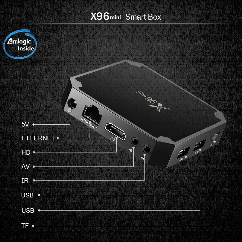 X96 Mini Android 7.1 Smart TV BOX 2GB RAM 16GB ROM Quad Core 2.4GHz 4