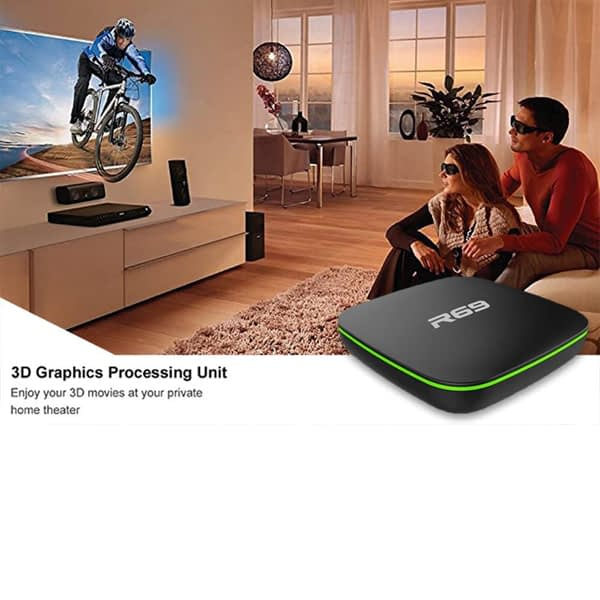 R69 Android 7.1 Smart TV BOX 2GB RAM 16GB ROM Quad Core 1.5GHz 4