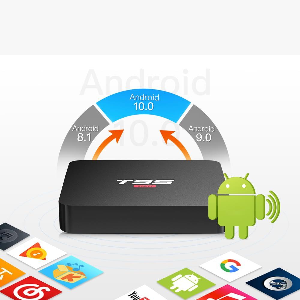 T95 Super Android 10.0 Smart TV BOX 2GB (DDR3) RAM 16GB ROM Quad Core 1.5GHz 3